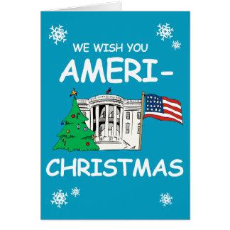 Hillary and Obama Wish You Ameri-Christmas Greeting Card