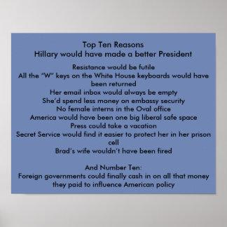 Hillary better President Poster