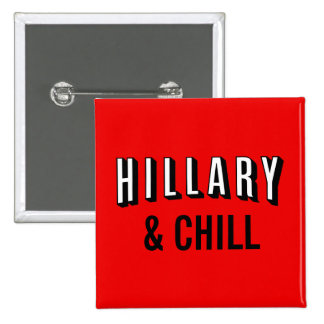 Hillary Button: Clinton for President 2016 15 Cm Square Badge