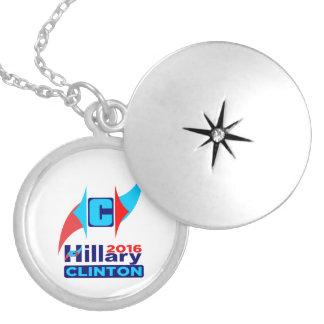 Hillary C 2016 Insignia Round Locket Necklace