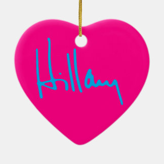 """HILLARY"" CERAMIC HEART DECORATION"
