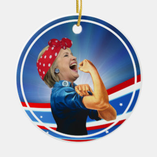 Hillary Clinton 1st Woman Presidential Nominee Round Ceramic Decoration