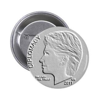 Hillary Clinton 2011 Secretary of State (shinier) Pinback Buttons