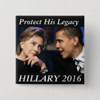 Hillary Clinton 2016 15 Cm Square Badge