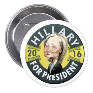 Hillary Clinton 2016 7.5 Cm Round Badge
