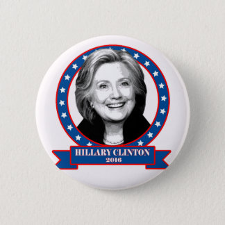 Hillary Clinton 2016 campaign button. 6 Cm Round Badge