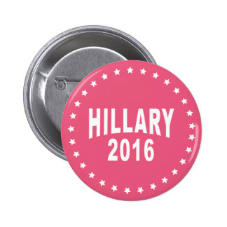 Hillary Clinton 2016 Campaign Pink Pinback Button