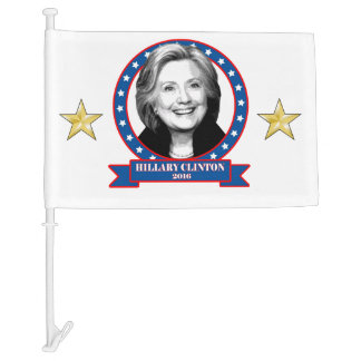 Hillary Clinton 2016 car flag. Car Flag