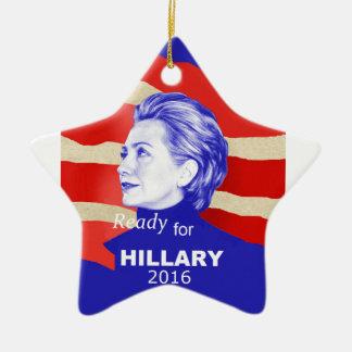 Hillary Clinton 2016 Ceramic Star Decoration