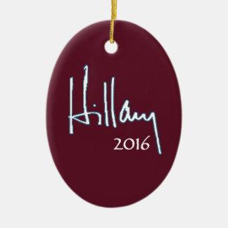 Hillary Clinton 2016 Christmas Ornament