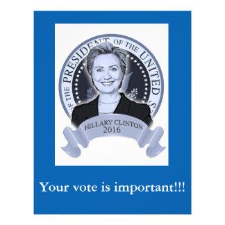 Hillary Clinton 2016 flyer. Flyer