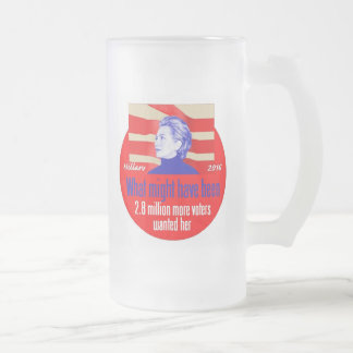 Hillary CLINTON 2016 Frosted Glass Beer Mug