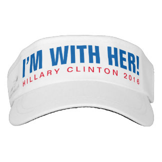 """Hillary Clinton 2016 """"I'M WITH HER!"""" Visor"""