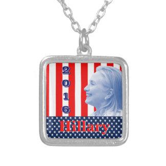 Hillary Clinton 2016 Square Pendant Necklace