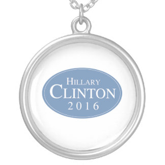 HILLARY CLINTON 2016 OVALESQUE PERSONALIZED NECKLACE