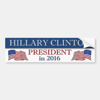 Hillary Clinton 2016 Patriotic Bumper Sticker