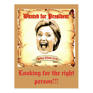 Hillary Clinton 2016 post card. Postcard