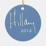 Hillary Clinton 2016 Round Ceramic Decoration