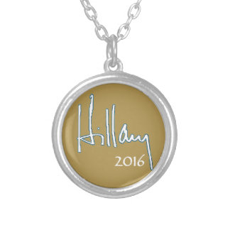 Hillary Clinton 2016 Silver Plated Necklace