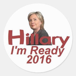 Hillary CLINTON 2016 Round Sticker