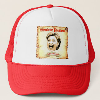 Hillary Clinton 2016 wanted for president  hat. Trucker Hat