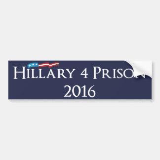 Hillary Clinton 4 Prison 2016 Bumper Sticker
