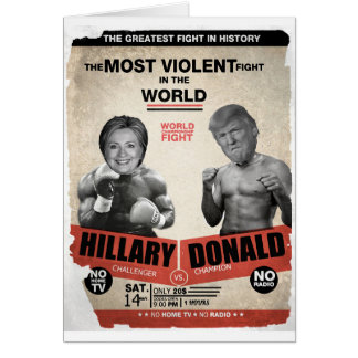Hillary Clinton and Donald Trump 2016 Card