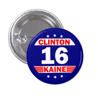 Hillary Clinton and Tim Kaine 2016 3 Cm Round Badge
