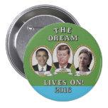 Hillary Clinton, Barack Obama & John Kennedy 7.5 Cm Round Badge