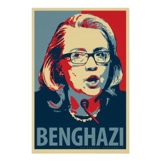 "Hillary Clinton ""Benghazi"" Obama Parody Poster"