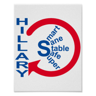 Hillary Clinton Circle Logo Poster