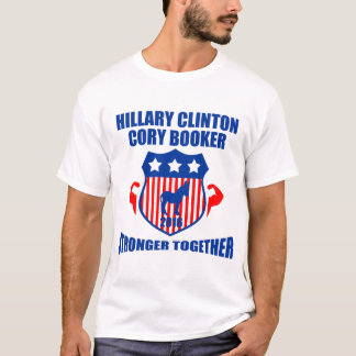 HILLARY CLINTON CORY BOOKER  STRONGER TOGETHER T-Shirt
