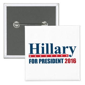 Hillary Clinton For President 15 Cm Square Badge