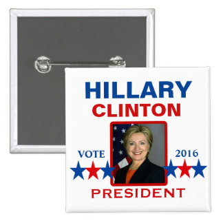 Hillary Clinton for President 2016 15 Cm Square Badge