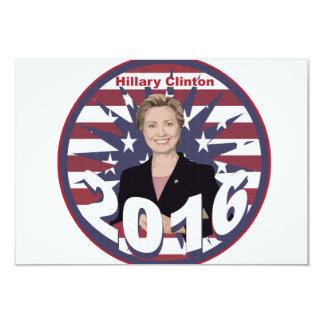 Hillary Clinton for President 2016 9 Cm X 13 Cm Invitation Card