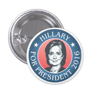 Hillary Clinton for president 2016 3 Cm Round Badge