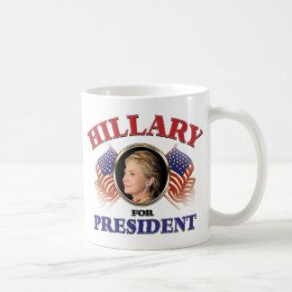 Hillary Clinton For President 2016 Basic White Mug