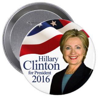 "Hillary Clinton for President 2016 Button Pin 4"""