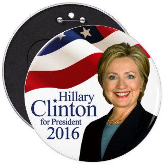 Hillary Clinton for President 2016 Jumbo Button