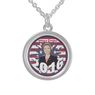 Hillary Clinton for President 2016 Sterling Silver Necklace