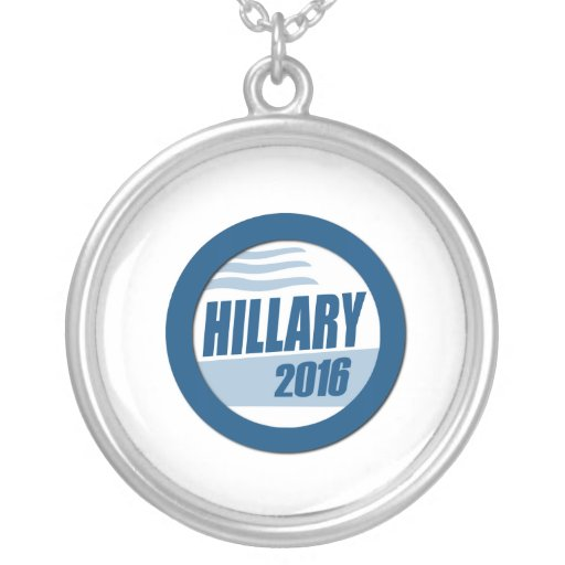HILLARY CLINTON FOR PRESIDENT 2016 PERSONALIZED NECKLACE