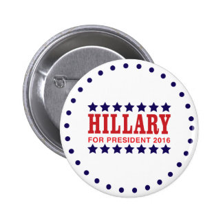 Hillary Clinton for president 2016 Pinback Button