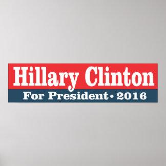 Hillary Clinton for President 2016 Print