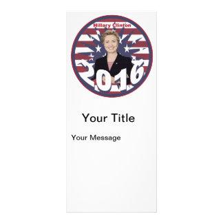 Hillary Clinton for President 2016 Rack Card Design