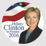 Hillary Clinton for President 2016 Round Stickers