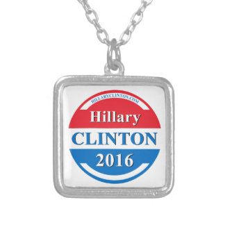 Hillary Clinton for President 2016 Square Pendant Necklace