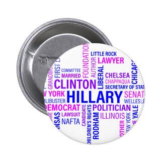Hillary Clinton for President 6 Cm Round Badge