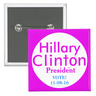 Hillary Clinton for President by HillaryClinton4u 2 Inch Square Button