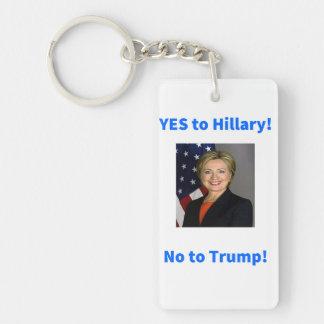 Hillary Clinton for President Double-Sided Rectangular Acrylic Key Ring