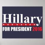 Hillary Clinton For President Poster
